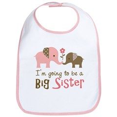 Big Sister to be - Mod Elephant Bib