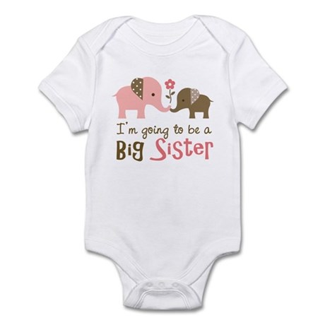 Big Sister to be - Mod Elephant Infant Bodysuit