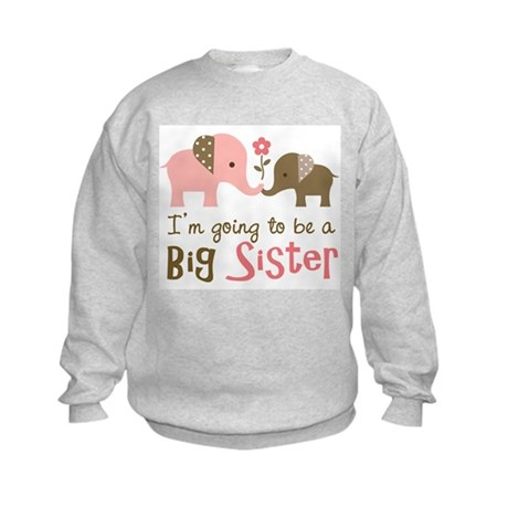 Big Sister to be - Mod Elephant Kids Sweatshirt