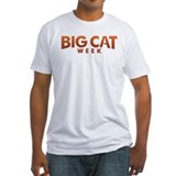 Big Cat Week Fitted White T-Shirt