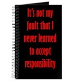 Not My Fault Journal