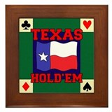 Texas Holdem Framed Tile