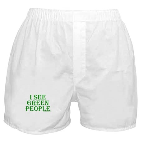 I see green people Boxer Shorts