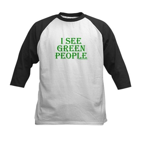 I see green people Kids Baseball Jersey