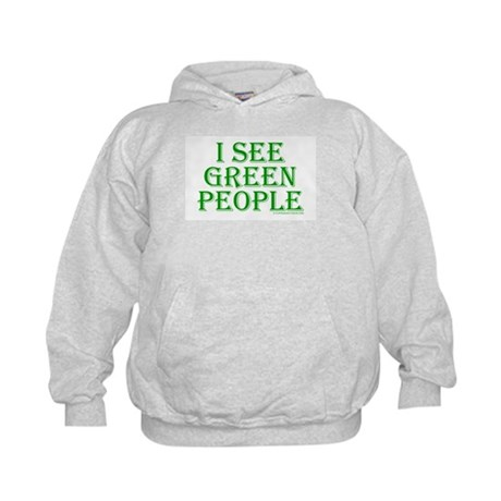I see green people Kids Hoodie
