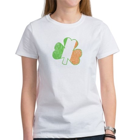 Vintage Irish Shamrock Womens T-Shirt