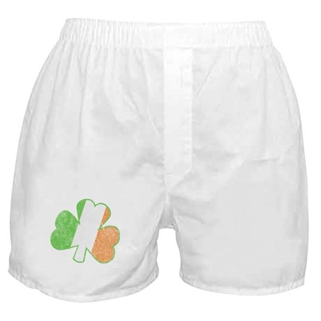 Vintage Irish Shamrock Boxer Shorts