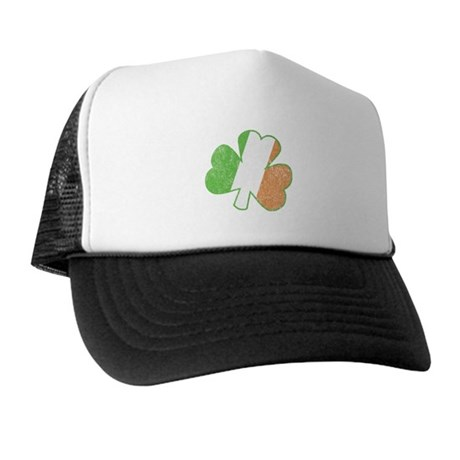 Vintage Irish Shamrock Trucker Hat