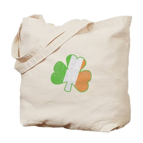 Vintage Irish Shamrock Tote Bag