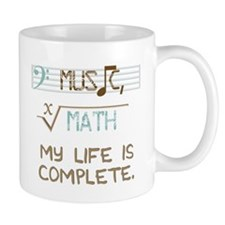 music and math Small Mugs