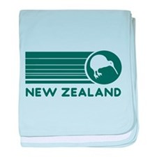 New Zealand Kiwi Stripes baby blanket