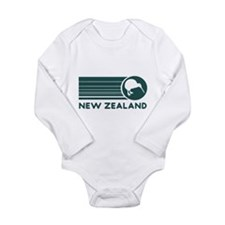 New Zealand Kiwi Stripes Long Sleeve Infant Bodysu
