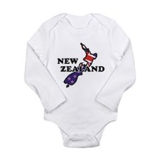 New Zealand Flag Long Sleeve Infant Bodysuit