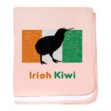Irish Kiwi Vintage Flag baby blanket