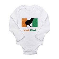Irish Kiwi Vintage Flag Long Sleeve Infant Bodysui
