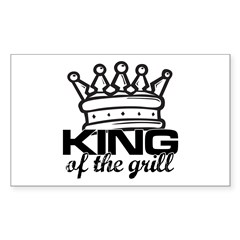 King of the Grill Sticker (Rectangle 10 pk)