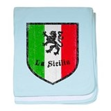 La Sicilia Vintage Flag baby blanket