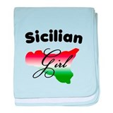 Sicilian Girl baby blanket