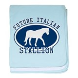 Future Italian Stallion baby blanket