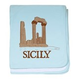 Agrigento Sicily baby blanket