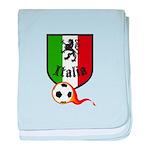 Italian Soccer baby blanket