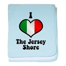 I Love the Jersey Shore baby blanket