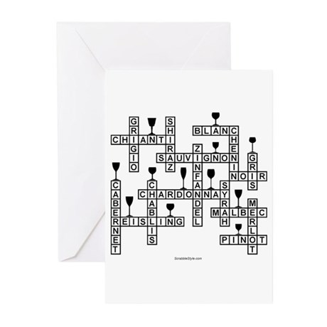 Wine Scrabble Greeting Cards (Pk of 20)