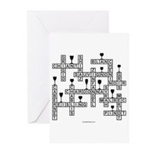 WINE SCRABBLE-STYLE Greeting Cards (Pk of 10)