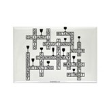 Wine Scrabble Rectangle Magnet