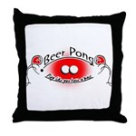 Beer pong Throw Pillow