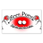 Beer pong Sticker (Rectangle)
