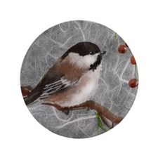 "3.5"" Button (100 pack) Chickadee"