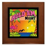 Tropical Poker Night Framed Tile
