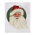 Vintage Santa Claus Throw Blanket