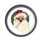 Vintage Santa Claus Wall Clock