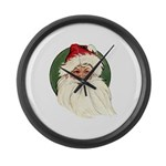 Vintage Santa Claus Large Wall Clock