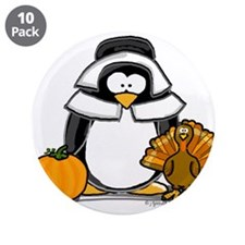 "Pilgrim Girl Penguin 3.5"" Button (10 pack)"
