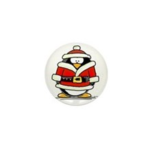 Santa Claus penguin Mini Button (10 pack)