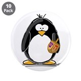 "Dreidle Penguin 3.5"" Button (10 pack)"