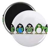 "Eco-friendly Penguins 2.25"" Magnet (10 pack)"