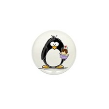 Ice Cream Sundae Penguin Mini Button (100 pack)