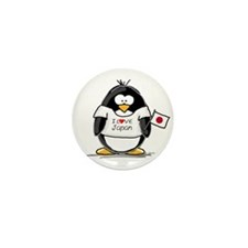 Japan Penguin Mini Button (10 pack)