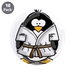 "Martial Arts brown belt pengu 3.5"" Button (10"