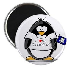 "Connecticut Penguin 2.25"" Magnet (10 pack)"