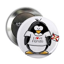 "Florida Penguin 2.25"" Button (100 pack)"