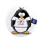 "Utah Penguin 3.5"" Button (100 pack)"