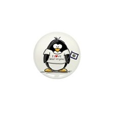 West Virginia Penguin Mini Button (10 pack)