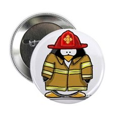 "Fire Rescue Penguin 2.25"" Button (100 pack)"