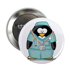 "Surgeon Penguin 2.25"" Button (100 pack)"