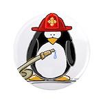 """Fireman penguin 3.5"""" Button (100 pack)"""